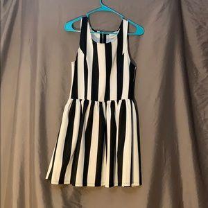 LA hearts black and white Skater dress